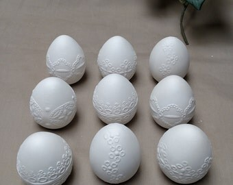 Ceramic Embroidered Easter Eggs