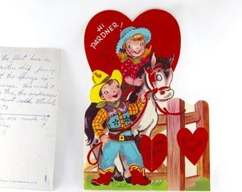 1960s Unsigned Valentine Card, Vintage Paper Valentine Card, Vintage Valentine's Day