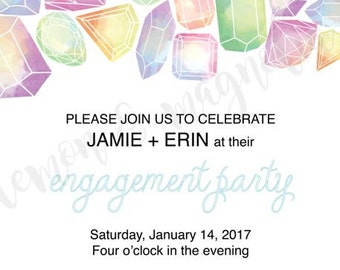 Jewel Engagement Party Invitation