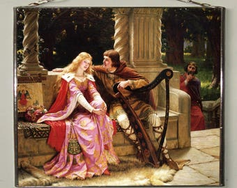 Edmund Leighton - Tristan and Isolde, Stained glass
