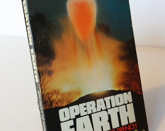 Operation Earth, paperback vintage Science fiction ? UFOs aliens flying saucers paranormal 1974