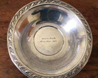 Silver Plated Horse Show Trophy from 1968