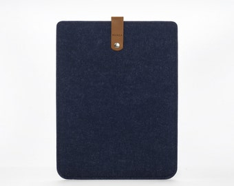 iPad Sleeve - iPad Mini Case - iPad Mini Cover - Cover iPad 4 - Felt and Leather Case