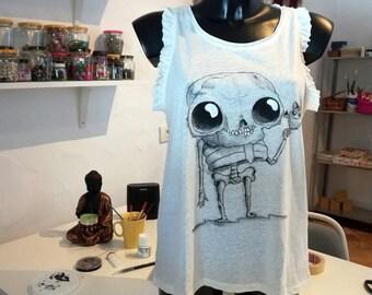 Cute skeleton t-shirt tank