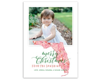 Florida Christmas Cards // Custom State Holiday Cards // Photo Holiday Card // Christmas photo card // State Christmas Card // The Lemmon