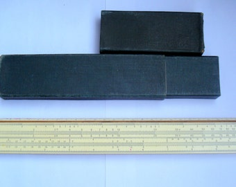 Soviet Slide Ruler in Original Box/ Russian Logarithmic Ruler/ VintageCalculator Ruler/1970s