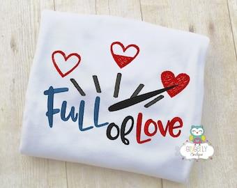 Full of Love Shirt or Bodysuit, Valentine Shirt, Valentines Day Shirt, Valentines Day Outfit, Boy Valentine, Heart Shirt