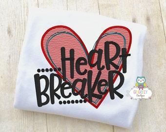 Heart Breaker Shirt or Bodysuit, Valentine Shirt, Valentines Day Shirt, Valentines Day Outfit, Boy Valentine, Heart Shirt