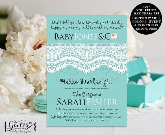 baby and co baby shower invitations turquoise blue theme by gvites