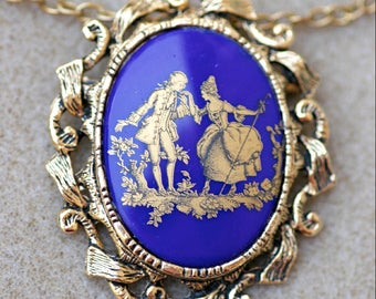Victorian Style Necklace Brooch Vintage