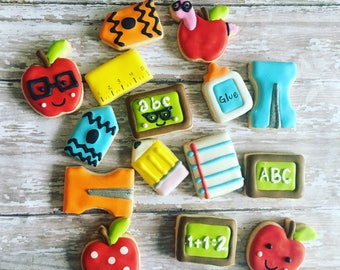 12 school set sugar cookies in a jar / teacher appreciation week