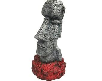 Easter Island Plaster Statue - Retro Tiki Statue Home Decor