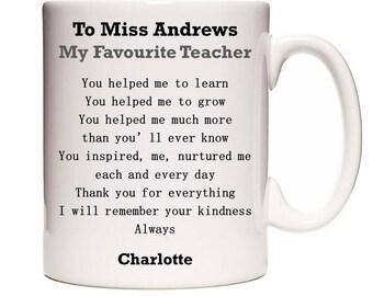 Favourite Teacher Poem Personalised Mug