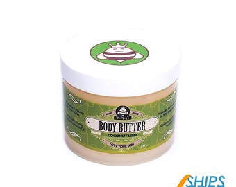 Hand-Crafted Body Butter - Coconut Lime (4 oz)