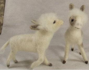 Needle felted animal, Needle felted donkey, Miniature donkey, Needle felted miniature donkey