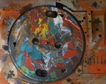 Turntable Acrylic moving Painting!