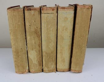 rare decline and fall of the roman empire edward gibbon 5 volume set antiques books collection old antiquarian