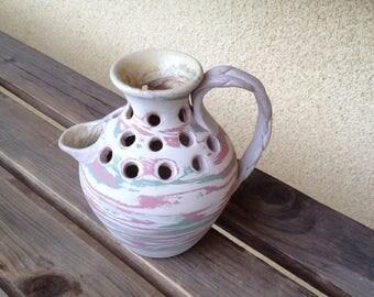 Silver Springs Florida Pot, Silver Springs Pitcher, Silver Springs Swirl Pot, Pottery Mission Swirl  Vase, Niloak Style Rustic Vase Pitcher