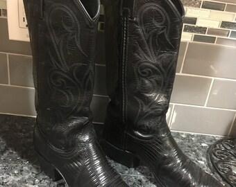 Dan Post black cowboy boots