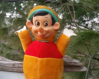 GUNDERFUL CREATION Plush Pinocchio Chime Baby Toy - Japan