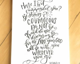 Custom hand-lettered canvas with your verse or quote