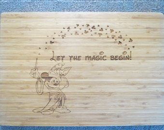 Personalized cutting board,Handcrafted gift,Disney cutting board, Wedding gift,Anniversary gift,Christmas gift
