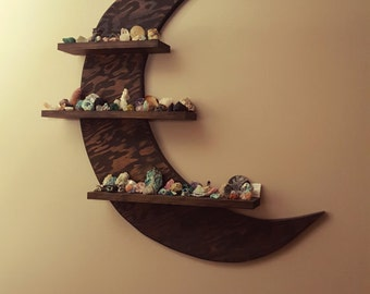 Wooden Crescent Moon Wall Shelf FREE SHIPPING