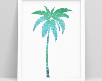 Palm Tree Wall Print - Tropical Wall Poster - Palm Tree Print Art - Palm Trees - Palm Tree Poster - Palm Poster - Palm Tree Wall Decor