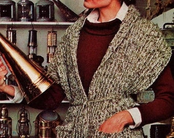 Tweed Crochet Reading Shawl Vintage Crochet Pattern Download