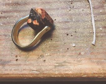 Jade Rivet Ring