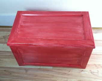 shabby chic red furniture. childu0027s toy box painted red wood blanket chest shabby chic hope sweater storage decorate furniture