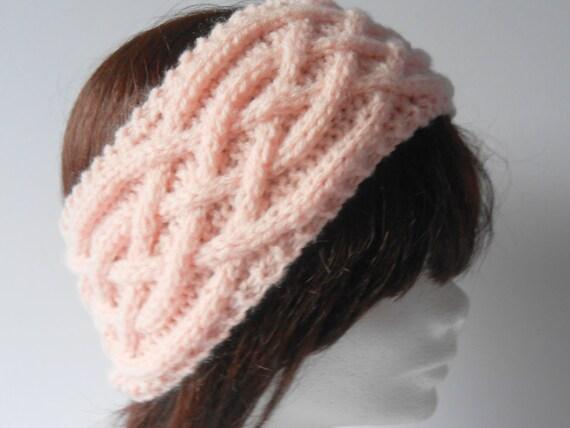 Knitted Headband. Knit Ear Warmer. Wide Headband. Knit Cable