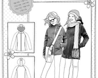 Farbenmix pattern PHILIPPA Softshell jacket girls