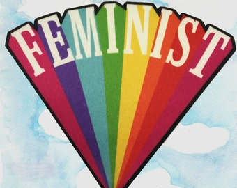 "Feminist 3.5"" Printed Patch"