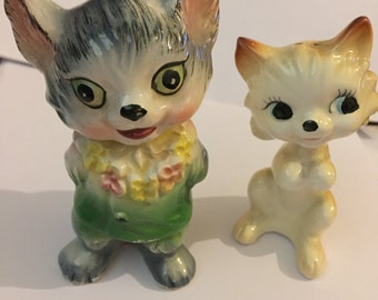 Vintage Scarce 1950s Kitsch Ceramic Cats