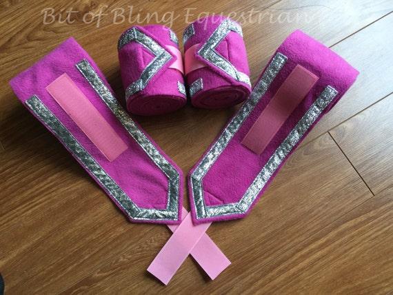 4 Custom V Trimmed Glitter Polos
