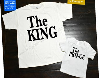 The King and The Prince, Matching father son shirts, matching father son sets
