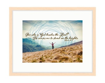Stand on the Heights - Bible Verse Art - Psalm 18