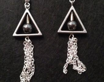 Deathly Hallows dangle earrings