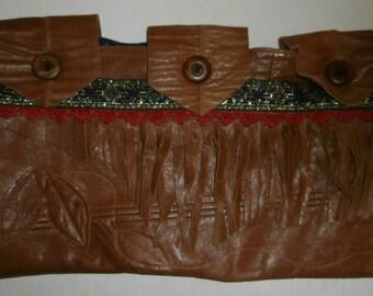 OOAK Handmade Leather Clutch