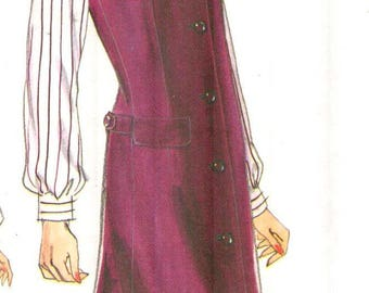 """Vogue 7112, Sz 6-10/Bust 30.5-32.5"""".  Very Easy Vogue Ladies Vneck Jumper in 2 lengths and Loose Fitting Blouse pattern by KoKo Beall, UNCUT"""