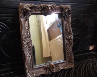 vintage 1980s Clarecraft mirror - goblins / faeries / pixies