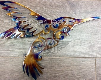 Large Hummingbird Metal Wall Art Metal Wall Decor