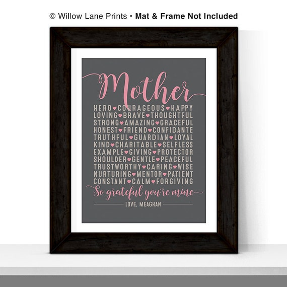 Mothers Day From Daughter Son Personalized Gift