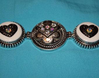 Snap Bracelet Interchangeable 3 Snap Bracelet/ with Free Snap Buttons