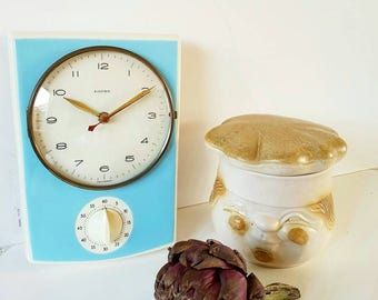 1950s German kitchen clock with eggtimer