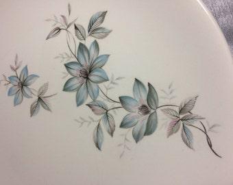 Johnson Bros. Made in England Ironstone Snowhite Range Bluish Pink Flowers Dish Set Vintage