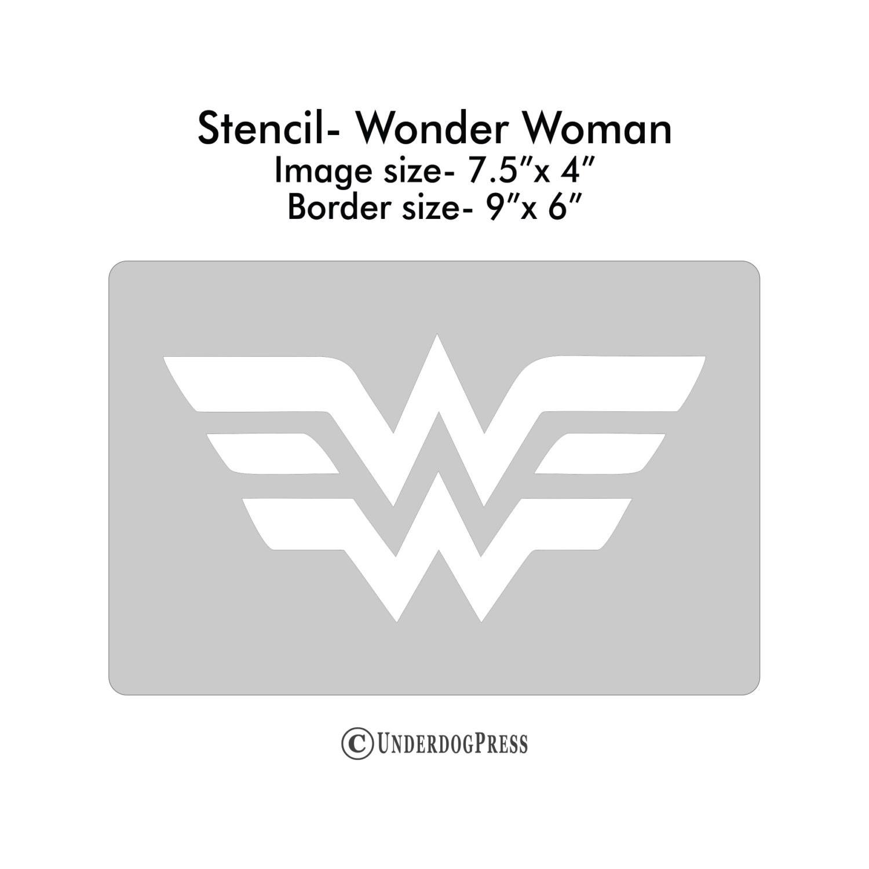 Wonder woman stencil