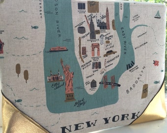 Rifle Paper Co Gilded NYC Clutch