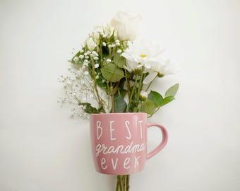 Best Grandma Ever Mug // Best Grandma Ever Coffee Mug // Pink Grandma Mug // Grandma Gift Under 25 // Cute Mothers Day Gift for Grandma